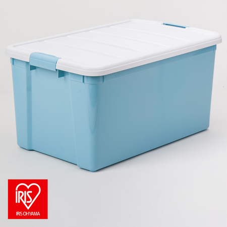 日本 IRIS 彩色分類整理箱 40L 天空藍