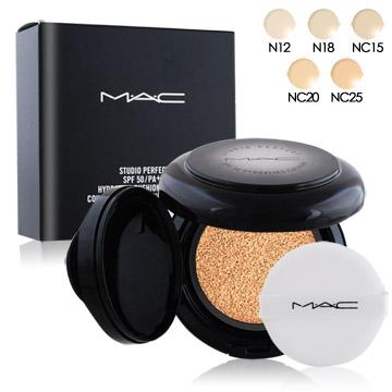 M.A.C 超持妝無瑕氣墊 SPF50/PA++(12g)多色可選+專櫃精華液試用包(隨機出貨)X1