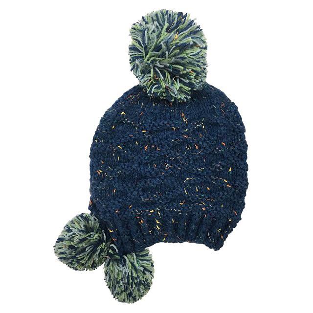 韓版秋冬護耳保暖針織帽 (MC136藏藍色)