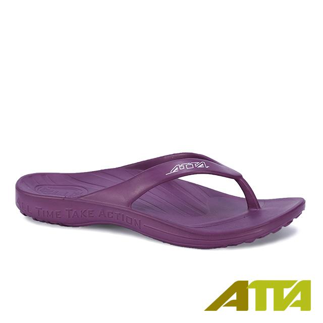 【333家居鞋館】ATTA運動風簡約夾腳拖鞋-紫色