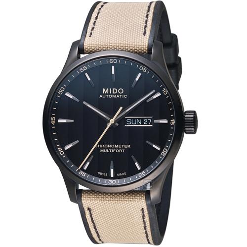 MIDO 美度 MULTIFORT先鋒80系列 天文台腕錶 黑42mm M0384313705109
