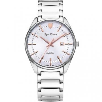 Olym Pianus 奧柏表 都會光采石英腕錶 玫瑰金 5698MS