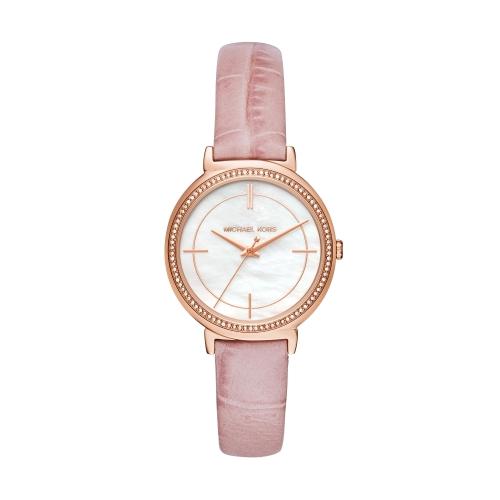 MICHAEL KORS甜美佳人真皮腕錶/MK2663