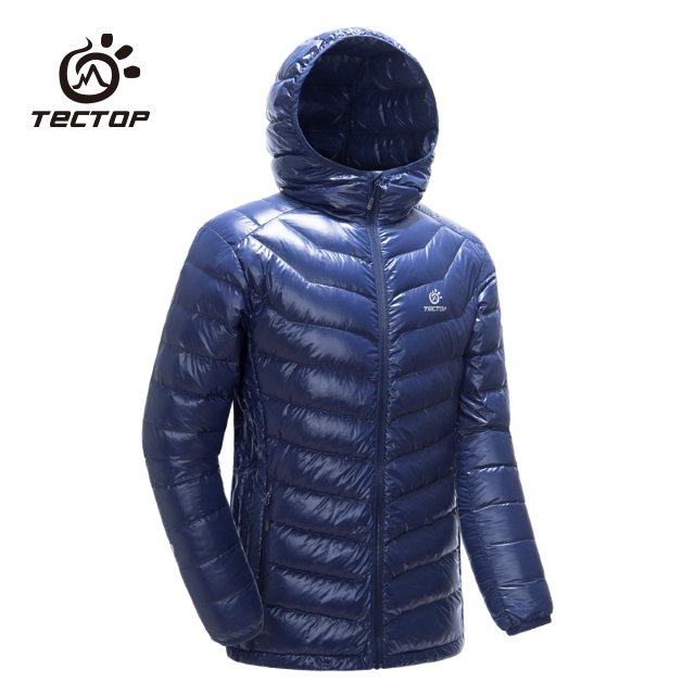 TECTOP探拓戶外【YW7997男款連帽羽絨外套】【藏青色】