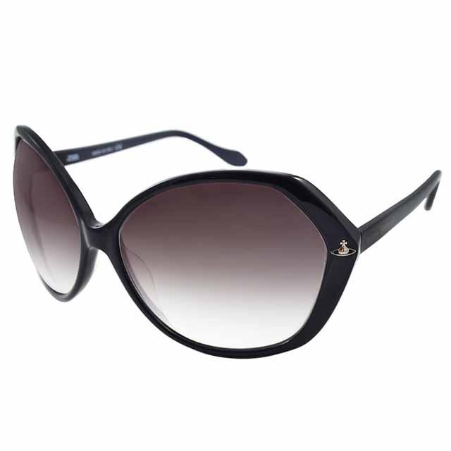 Vivienne Westwood 英國薇薇安魏斯伍德 復古不規則星球太陽眼鏡(黑色) VW731C04