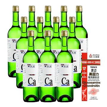 AA鈣杏懋 藤田鈣液劑12入團購組(加贈渡邊高固力葡萄糖胺液)