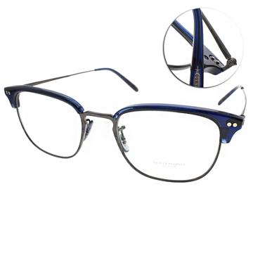 OLIVER PEOPLES眼鏡 完美工藝經典眉框(藍-槍銀) #WILLMAN 1566