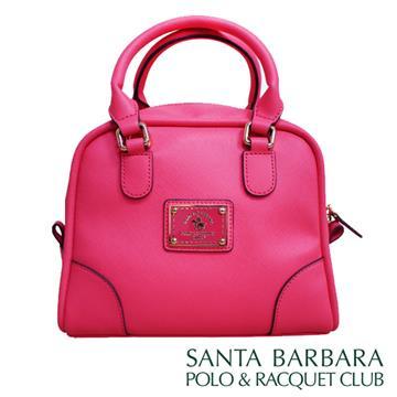 SANTA BARBARA POLO & RACQUET CLUB - 幸福微糖小方型手提包(玫紅色)