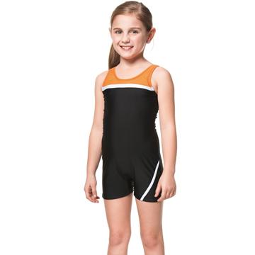 【SARBIS】泡湯SPA戲水女童連身四角泳裝附泳帽B85261