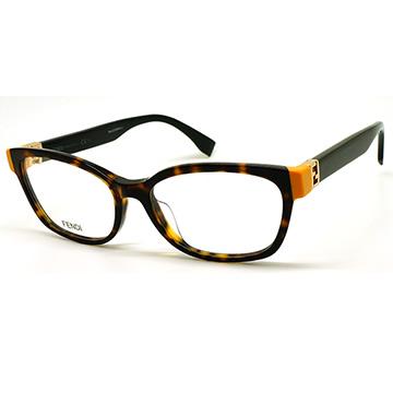 【FENDI】光學眼鏡鏡框 FF0130 TRD 52mm 義大利時尚流行品牌