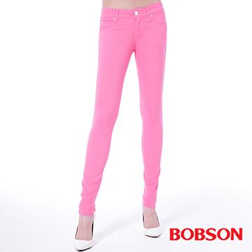 【BOBSON】女款低腰彩色涼爽紗緊身褲(8130-10)