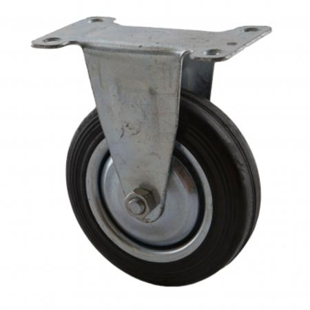 4吋橡膠折疊載物車替換輪-後固定輪-40KG