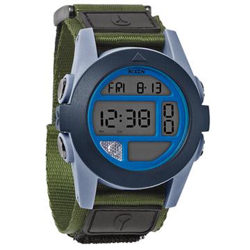NIXON The BAJA 核心啟程多功能概念運動錶 (灰藍綠)