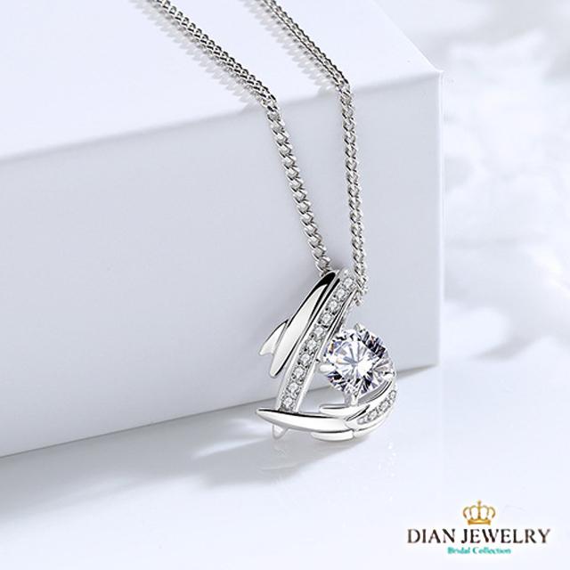 【DIAN黛恩珠寶】心之所向 CZ鑽純銀項鍊
