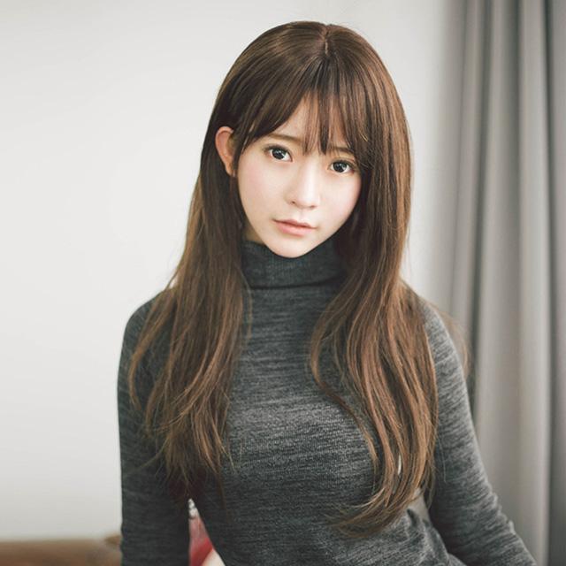 【幸福揚邑】微卷長直髮美拍直播造型必備女用整頂假髮