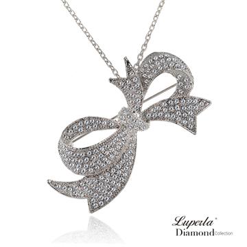 【大東山珠寶】 施華洛世奇水晶鑽多變款項鍊胸針-浪漫風情 -(銀色系)