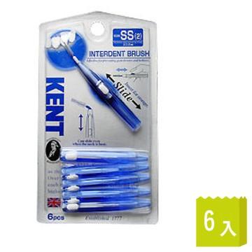 池本刷子IKEMOTO-KENT 抗菌齒間刷-可彎曲SS(KNT-7110)6入