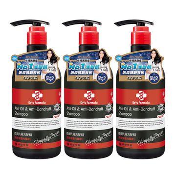 台塑生醫 Dr's Formula控油抗屑洗髮精升級版 激涼款 580g*3入