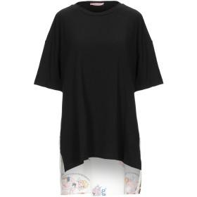 《セール開催中》ROSE' A POIS レディース T シャツ ブラック 38 コットン 94% / ポリウレタン 6% / ポリエステル