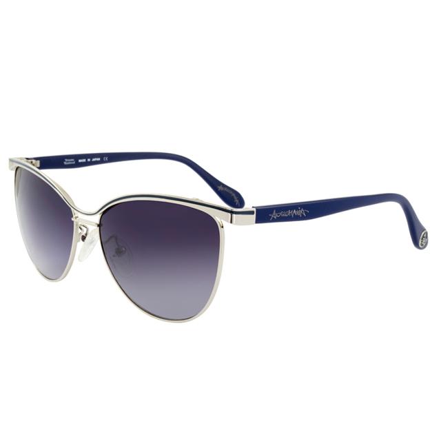 Vivienne Westwood 英國薇薇安魏斯伍德時尚經典眉框水銀鏡面太陽眼鏡(銀/藍) AN762C03