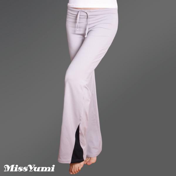 MISSYUMI 吸濕排汗瑜珈長褲(  灰黑 MY31021 )