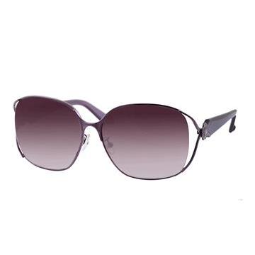 Anna Sui 日本安娜蘇 時尚立體花圖騰鏡框設計太陽眼鏡 (紫色-AS880-735)