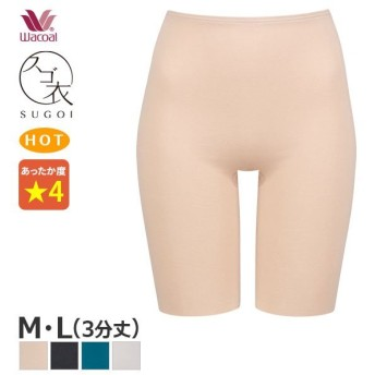 【B】20%OFF ワコール スゴ衣 天然素材プラス 肌あたりやさしい ニットボトム (M Lサイズ/3分丈)HLD260 [m_b]