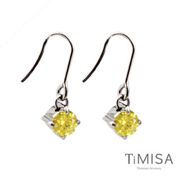 TiMISA 純淨光芒 活力黃 純鈦耳環