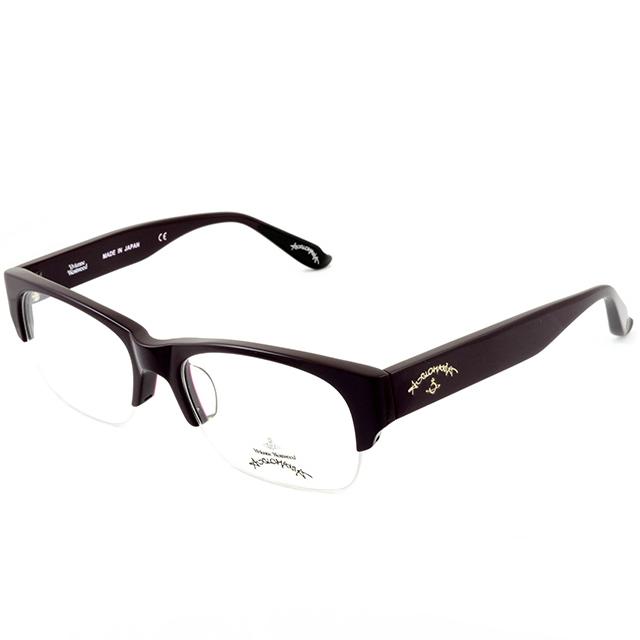 Vivienne Westwood 英國Anglomania英倫龐克設計★經典個性光學眼鏡(深紫)AN236C3