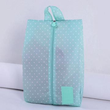 【韓版】印花款防潑水鞋袋/旅行收納袋-淺綠點點