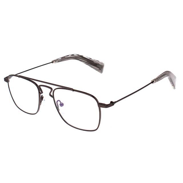 Yohji Yamamoto 山本耀司 方型時尚造型光學眼鏡-鐵灰-YY3005-902