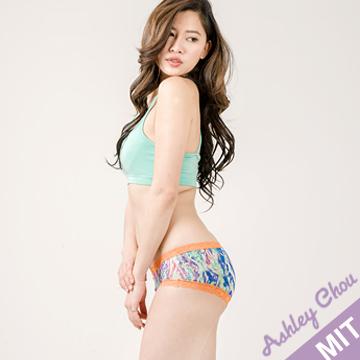 Ashley Chou 蕾絲 親膚透氣台灣製 低腰寬版包臀女內褲 彩色款