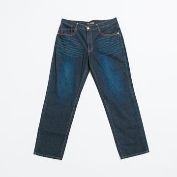FATAN 大尺碼經典刷色牛仔褲