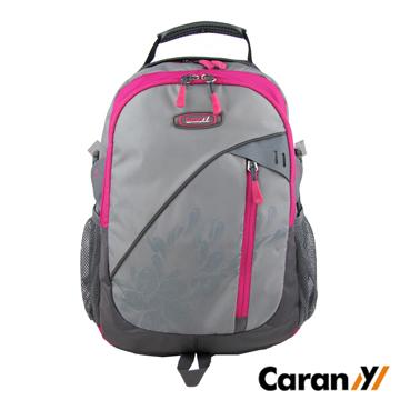 CARANY 卡拉羊 30L 大容量 電腦隔層  輕量後背包 書包 雙肩包 (桃/灰) 58-0007