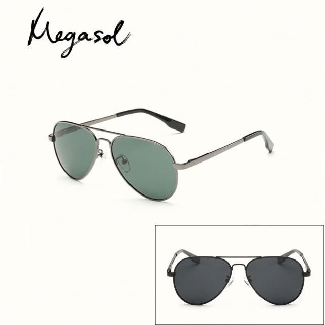 【MEGASOL】中性兒童男孩女孩UV400抗紫外線偏光兒童太陽眼鏡(雷朋款KD3025L-三色可選)