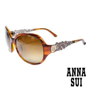 Anna Sui 日本安娜時尚立體雕花造型太陽眼鏡(茶)AS854-101