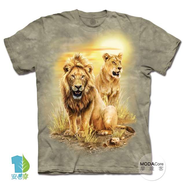 美國進口The Mountain 草原獅 純棉環保中性短袖T恤