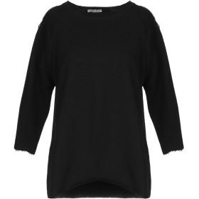 《セール開催中》HOPE COLLECTION レディース スウェットシャツ ブラック L コットン 100% / ポリエステル