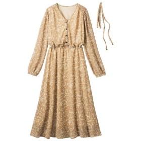 [マルイ] 【2019年秋冬新着】Vネックプリントワンピース/ジーラ バイ リュリュ(ファッション)(GeeRA (fashion))