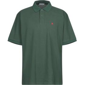 《セール開催中》AZUMA メンズ ポロシャツ ダークグリーン S コットン 100%