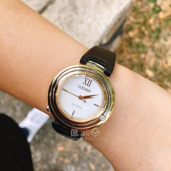 CITIZEN日本星辰田馥甄代言ECO-Drive L系列閃耀時刻真鑽光動能簡約腕錶EM0656-15A