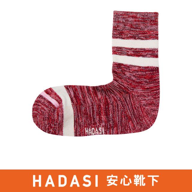 條紋氣墊除臭中筒襪