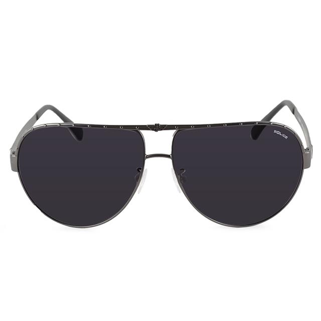 POLICE 義大利 品牌上框飛行員太陽眼鏡 / 黑POS8844-0H66