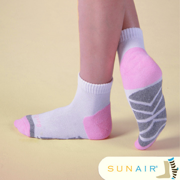 sunair 滅菌除臭襪子-慢跑襪款1/2筒 (M21~24.5) /SA0401