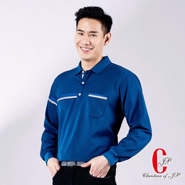 【Christian】義式品味刷毛口袋POLO衫_寶藍(PW731-55)