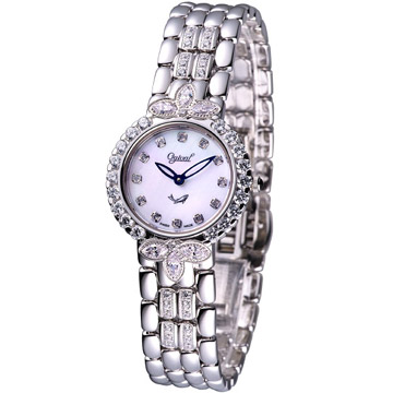 Ogival  愛其華典藏晶鑽仕女腕錶305-051DLW【白貝面】