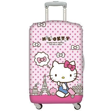 LOQI 行李箱套│HelloKitty 巴黎鐵塔M號