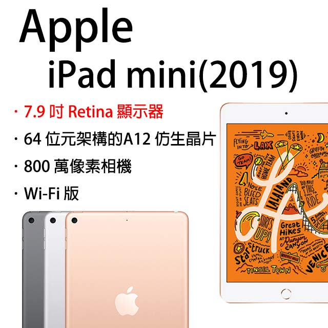 ★超值組合★Apple iPad mini Wi-Fi 256GB 7.9吋 平板電腦(2019版)