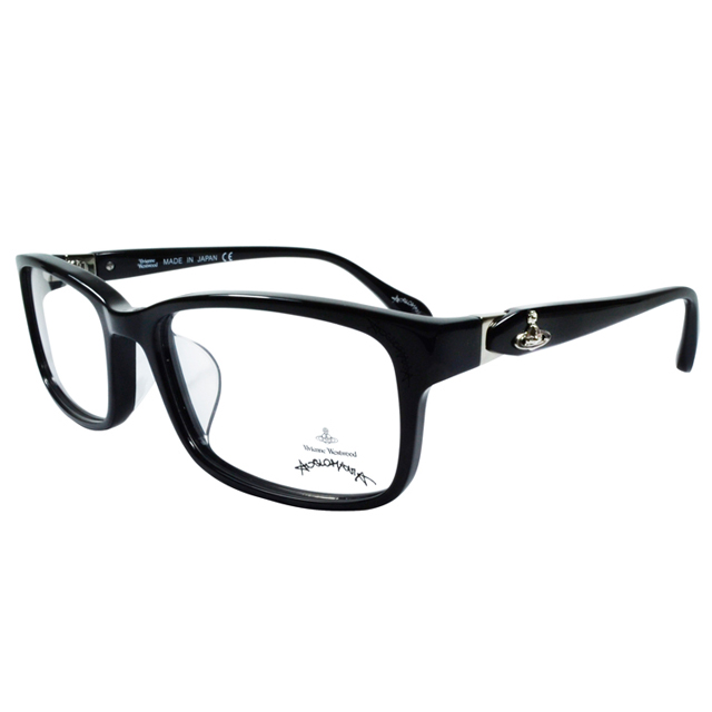 Vivienne Westwood 英國Anglomania側接金屬經典土星光學眼鏡(黑+銀)AN28501