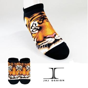 【JHJ DESIGN】3D動物系列 老虎 船襪/隱形襪/短襪/綿襪/針織襪/動物襪